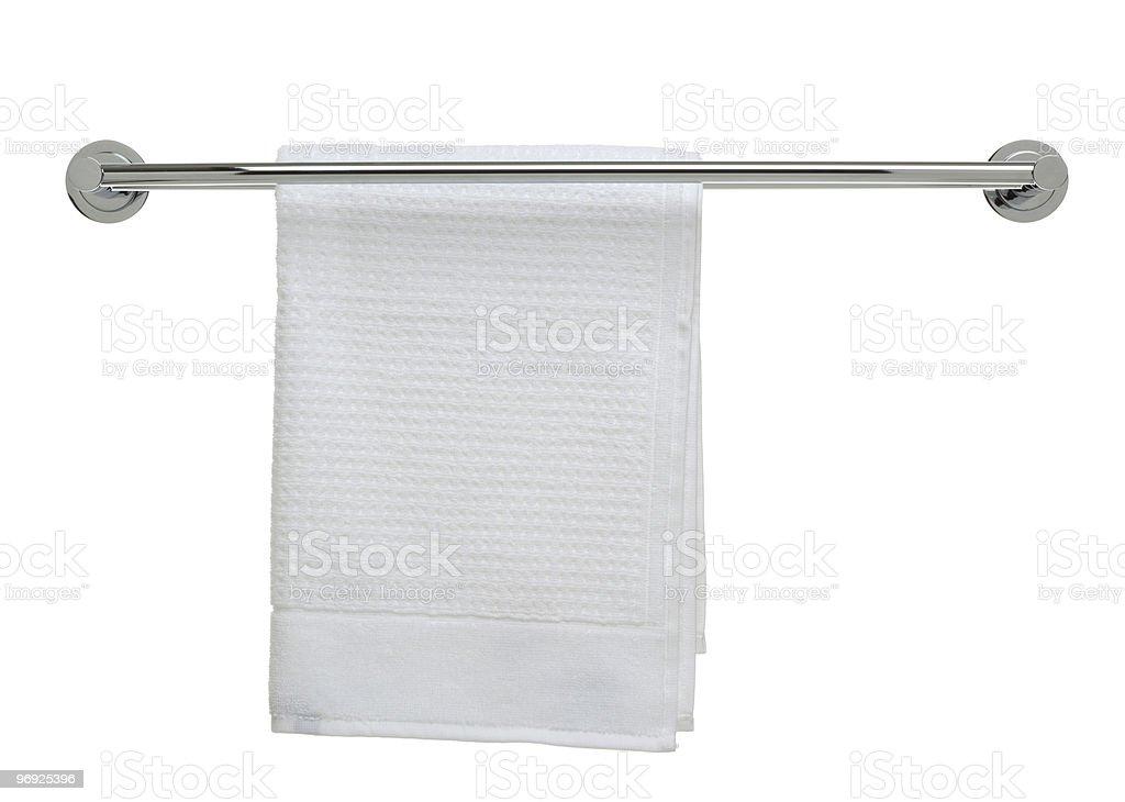bathroom object series - fresh towel on a rail royalty-free stock photo