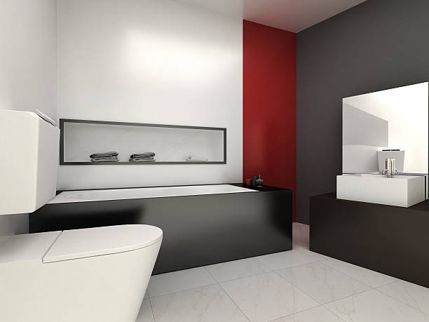 - badezimmer - badmöbel gäste wc stock-fotos und bilder