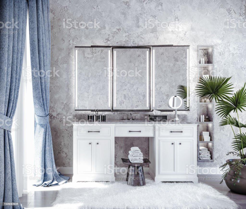 El baño - foto de stock