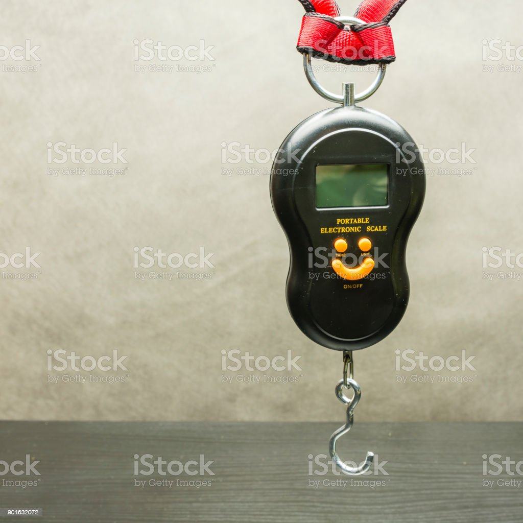 Báscula electrónica portátil. - foto de stock
