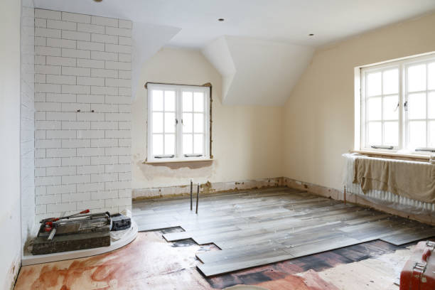 bathroom refit tiling - bathroom renovation stock photos and pictures