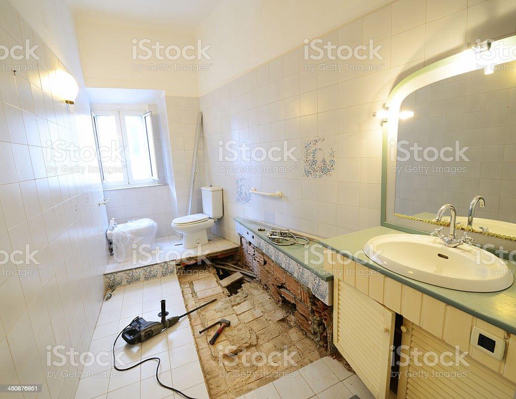Bathroom Remodeling stock photo
