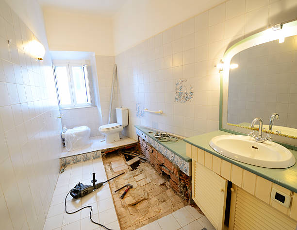 bathroom remodeling - bathroom renovation stock photos and pictures