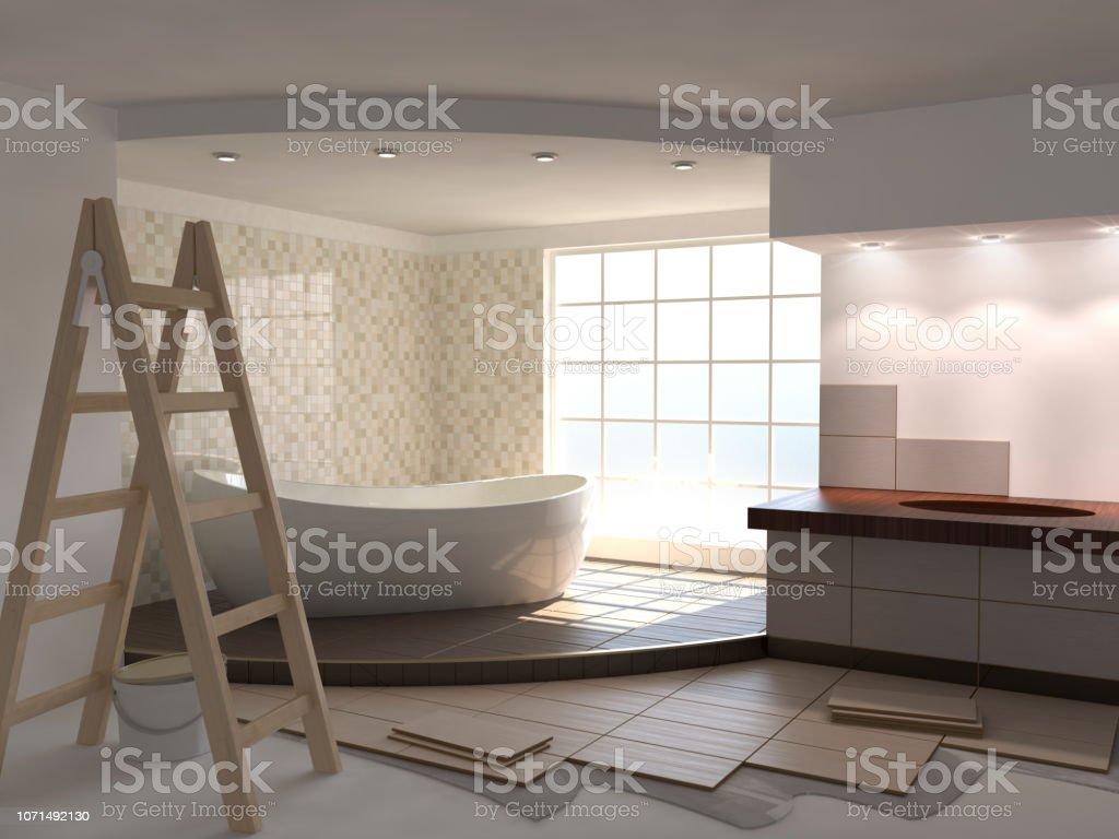 Bathroom renovation beige – zdjęcie