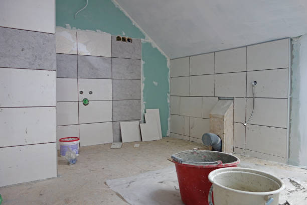 bathroom renovation - bathroom renovation stock photos and pictures