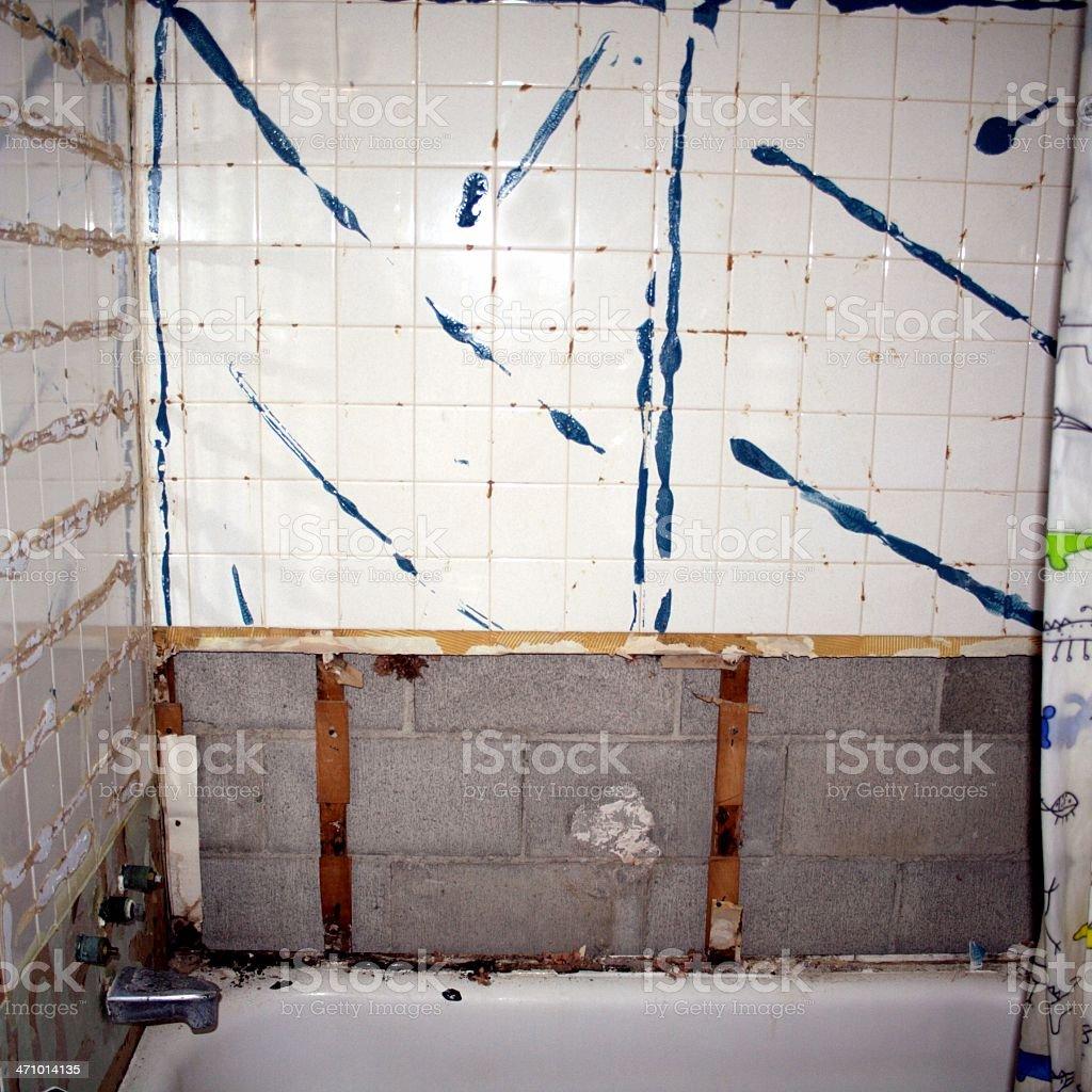Bathroom Renovations 2 royalty-free stock photo