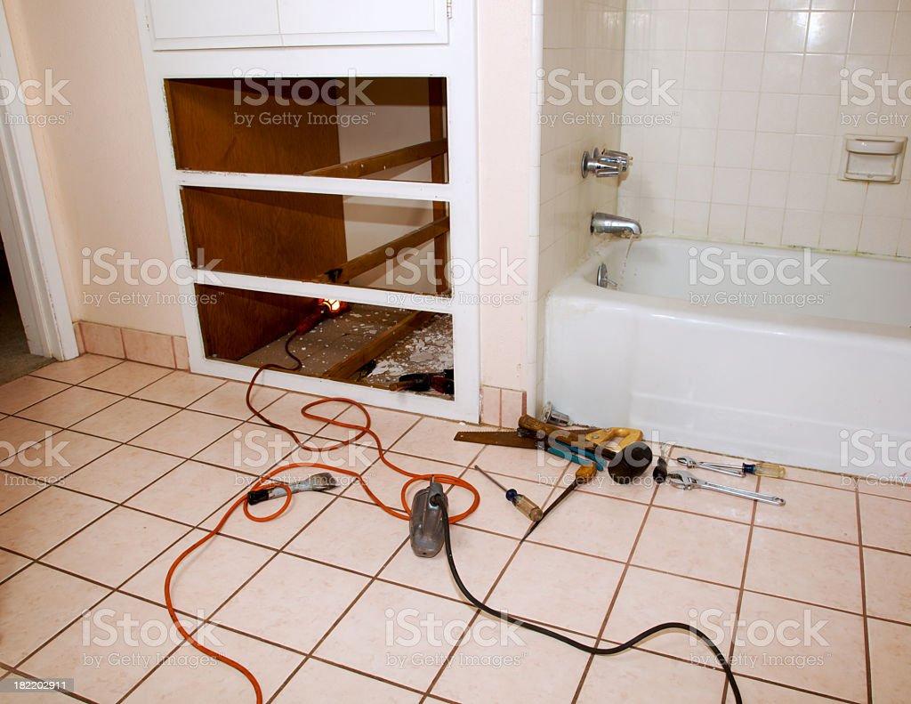 Bathroom Repair royalty-free stock photo