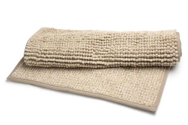Bathroom rug stock photo