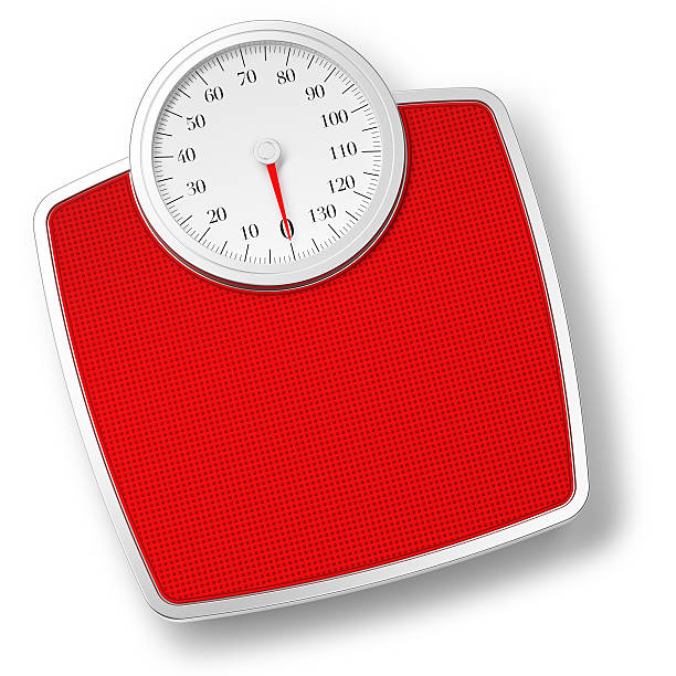 bathroom scale isolated on withe - scale stock photos and pictures