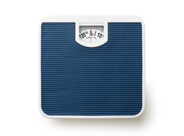 Bathroom scale stock photo