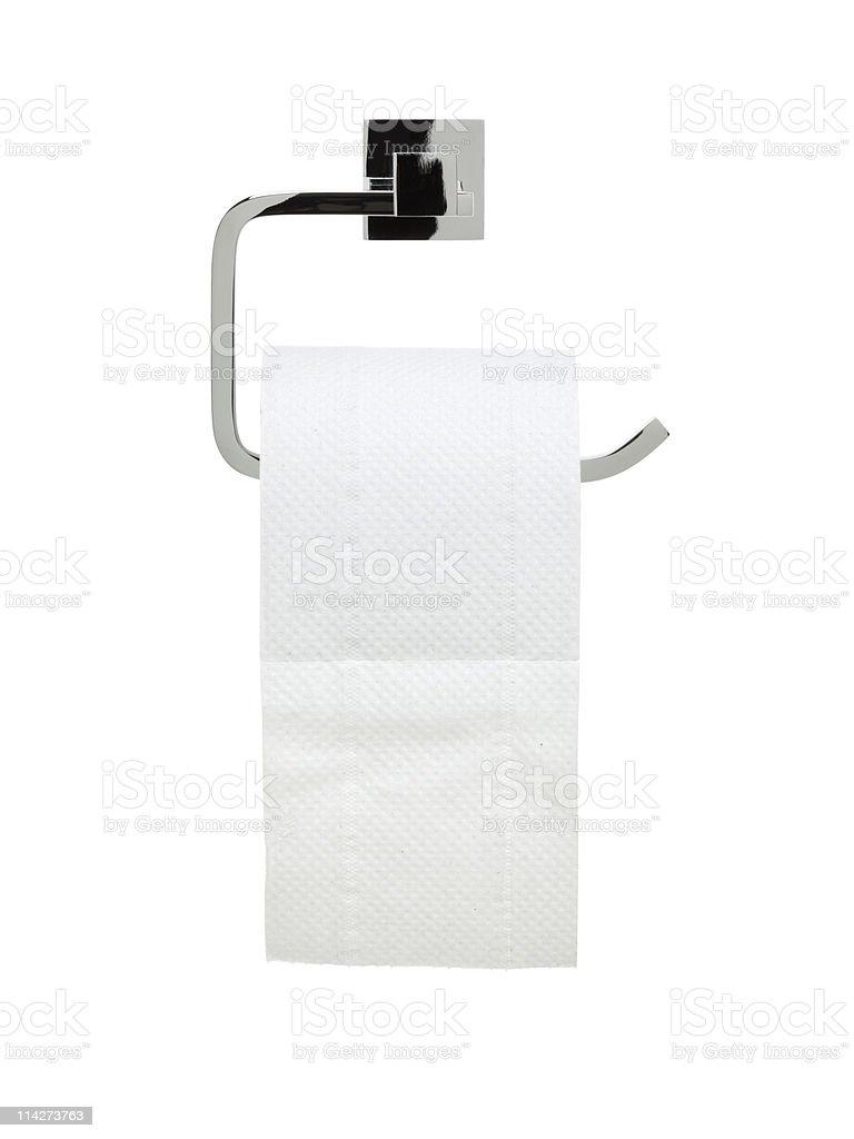 bathroom series - toilet paper holder royalty-free stock photo