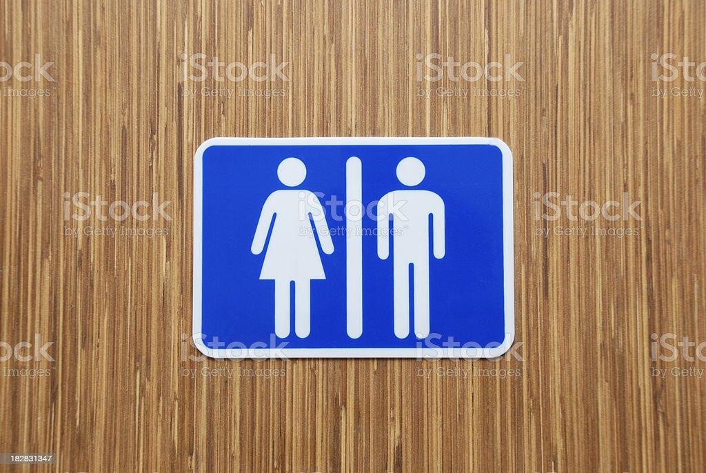 Bathroom signs. royalty-free stock photo