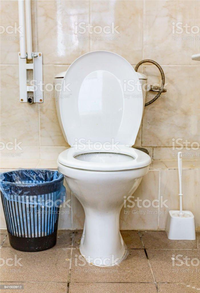 bathroom, toilet, sanitary, hygiene, bowl, seat, modern, washroom, white, ceramic, restroom stock photo