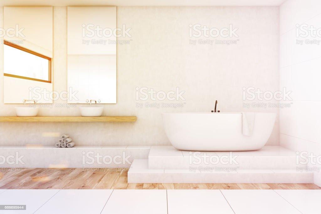 Cuarto De Baño Con Dos Espejos Blanco Tonos Foto de stock y más banco de  imágenes de A la moda
