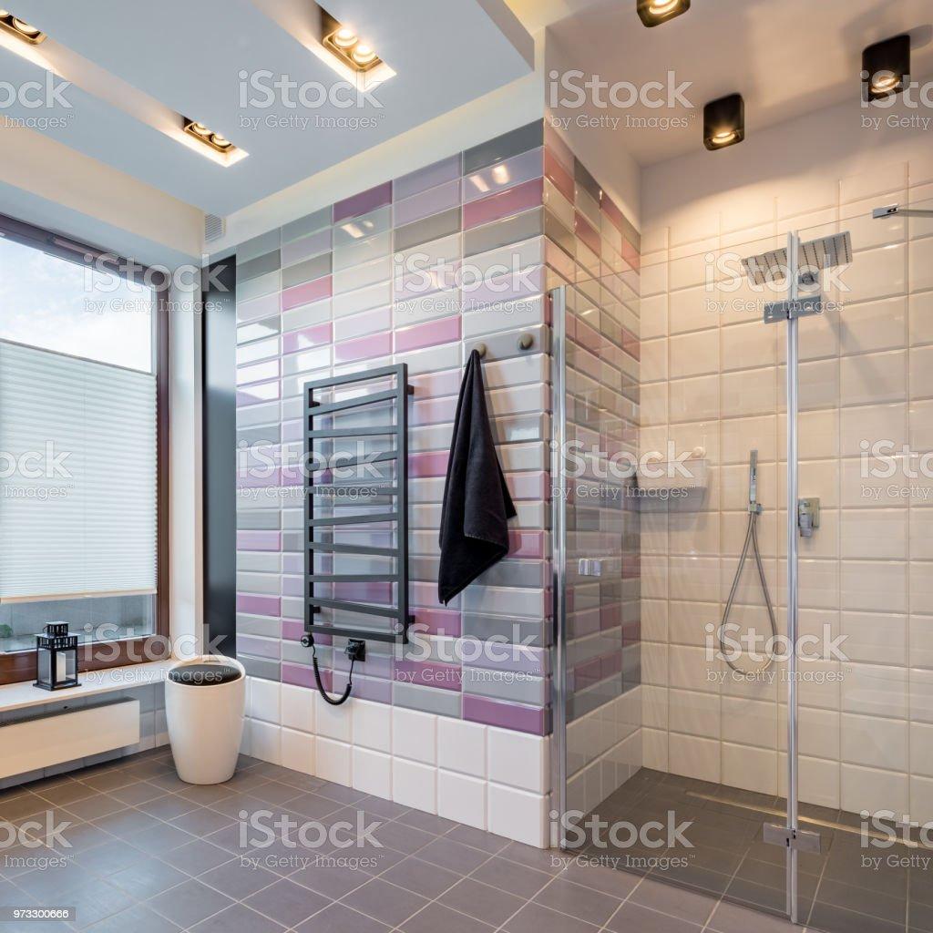 Badezimmer Mit Begehbarer Dusche Stockfoto und mehr Bilder ...