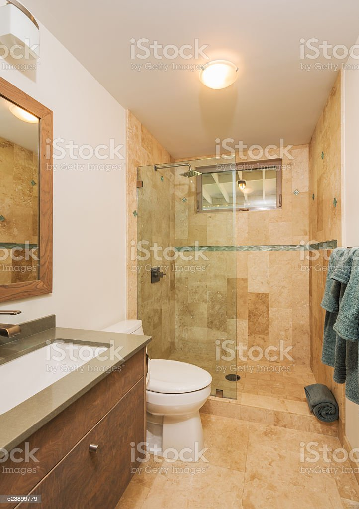 Bathroon in Contemporary Home stock photo