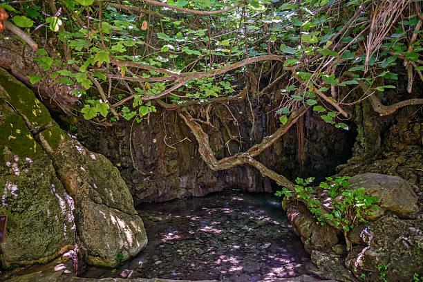 Baths of Aphrodite on Cyprus stock photo