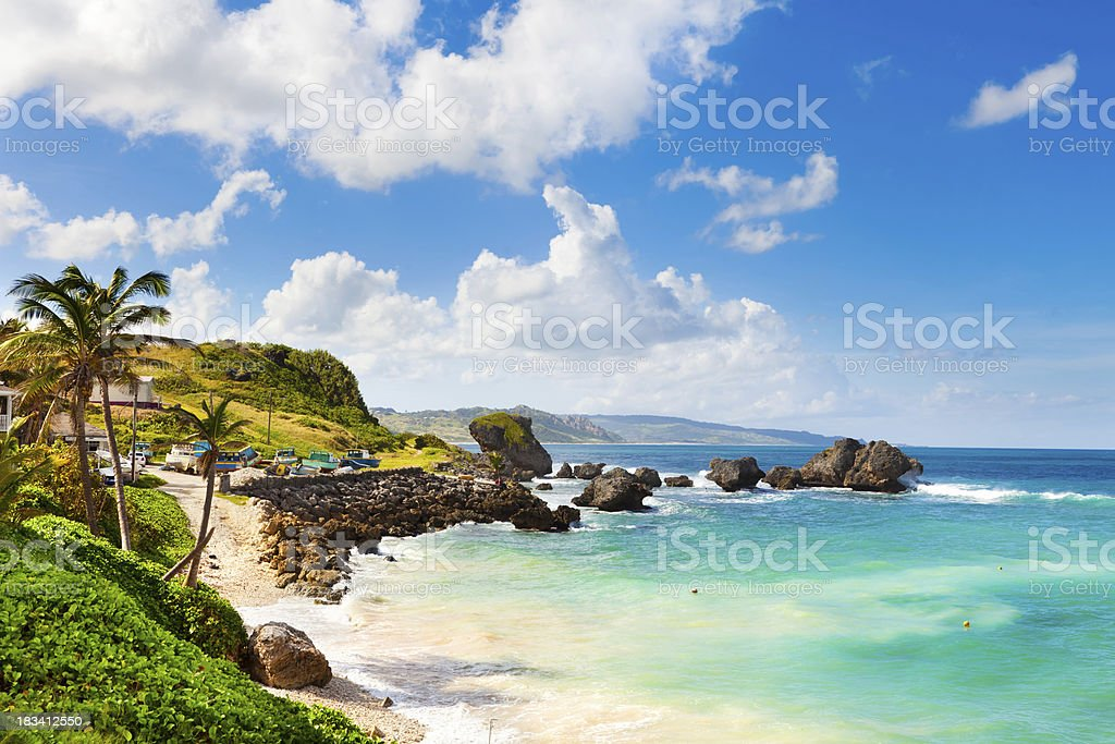 Bathsheba, Barbados. stock photo