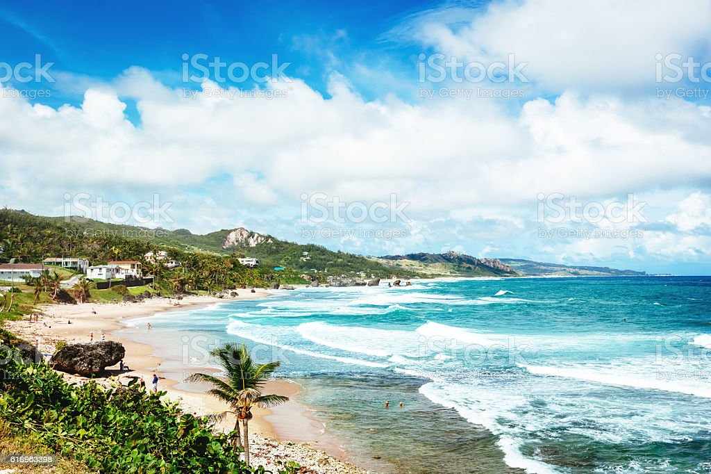 Bathsheba Beach, Barbados stock photo