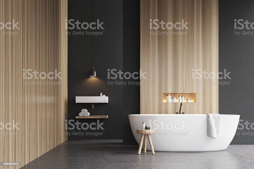 Bathtub, a sink and a chair – Foto