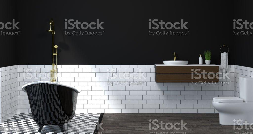 Bad bad moderne stijl badkuip en wastafels interieur luxe