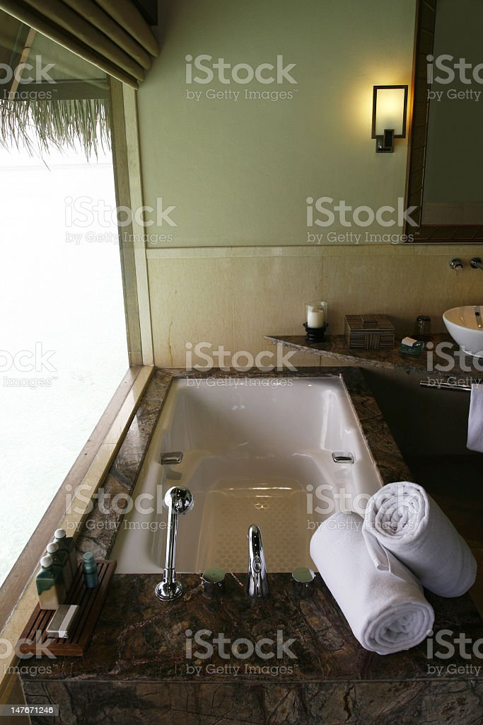 Bathtub Beside Window royalty-free stock photo