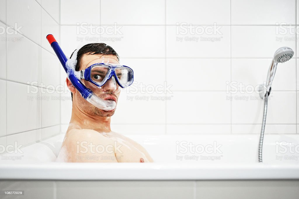 bathtub diver royalty-free stock photo