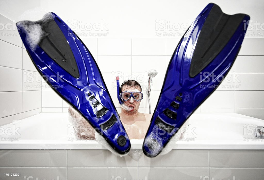 bathtub diver royalty-free stock photo
