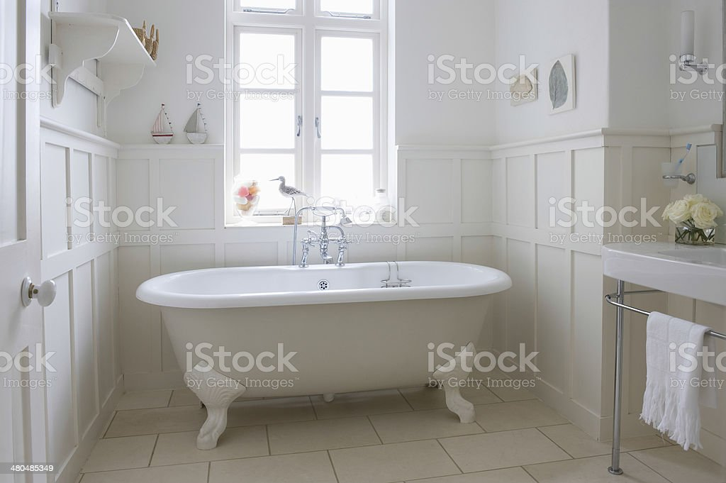 Bathtub In Bathroom stock photo