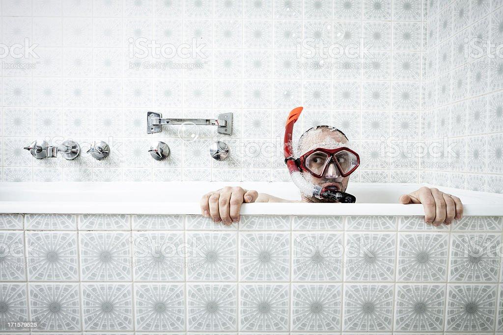 Baignoire de la plongée avec masque et tuba - Photo