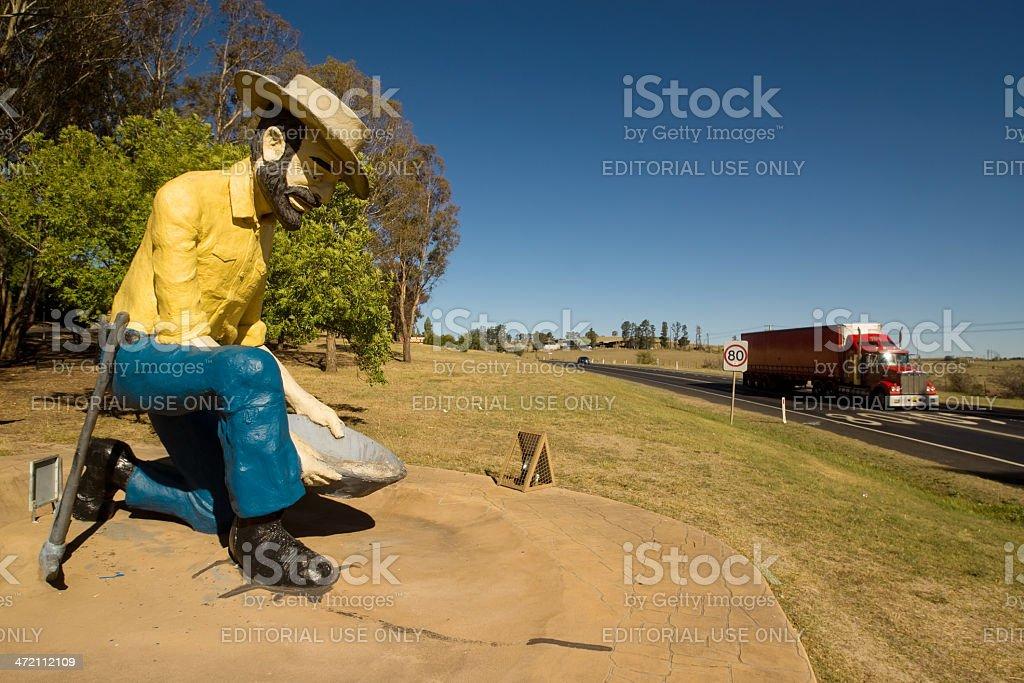 Bathurst - Big Gold Panner stock photo