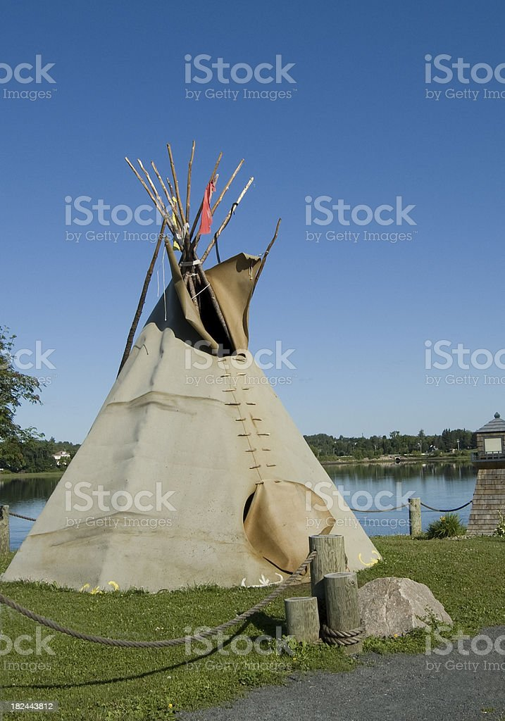 Bathurst Indian TeePee (Tipi) stock photo