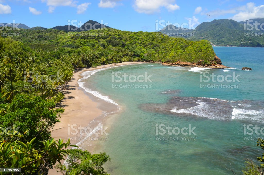 Batibou beach, Dominica stock photo