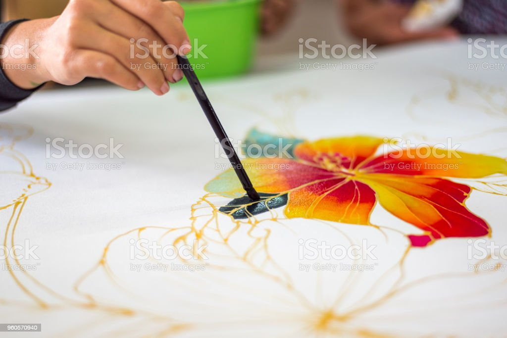 Batik art stock photo