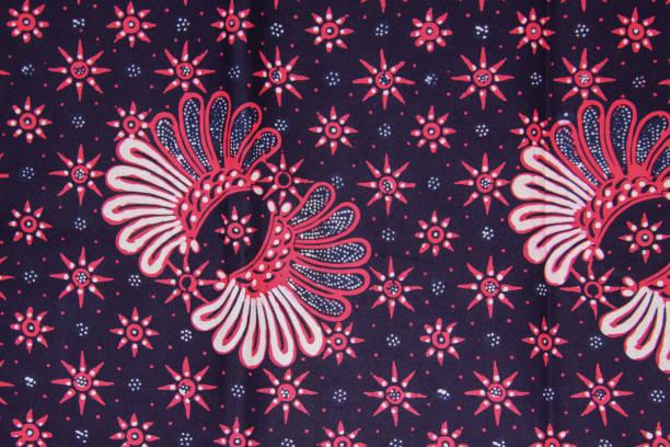 Batik motif sample design from Java, Indonesia stock photo