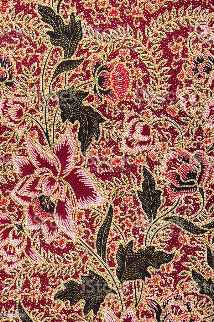 Batik pattern with roses stock photo