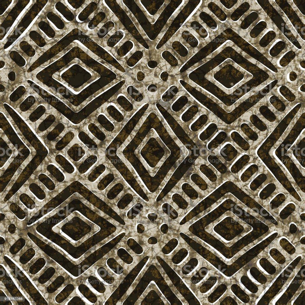 Batik seamless texture, fabric and textile stock photo
