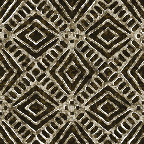 Batik seamless texture, fabric and textile stock photo