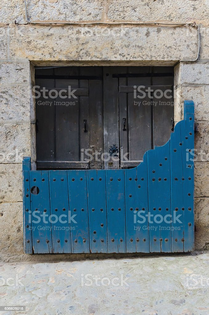 Batipuerta painted in blue stock photo