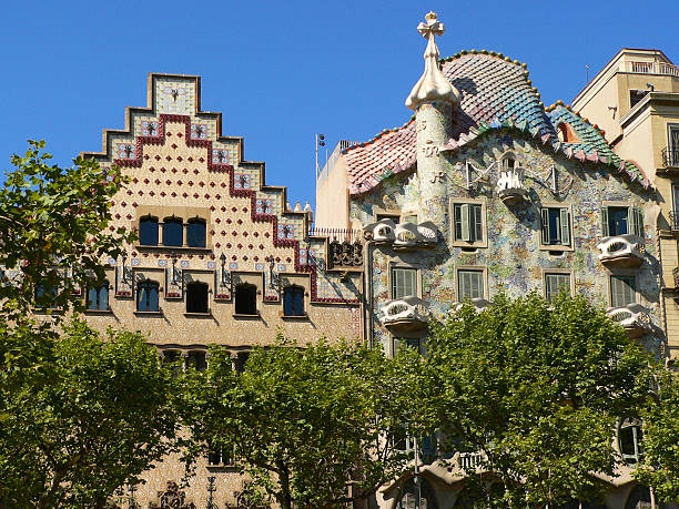 Casa Batllo Casa Batllo by Antoni Gaudi gracia baur stock pictures, royalty-free photos & images