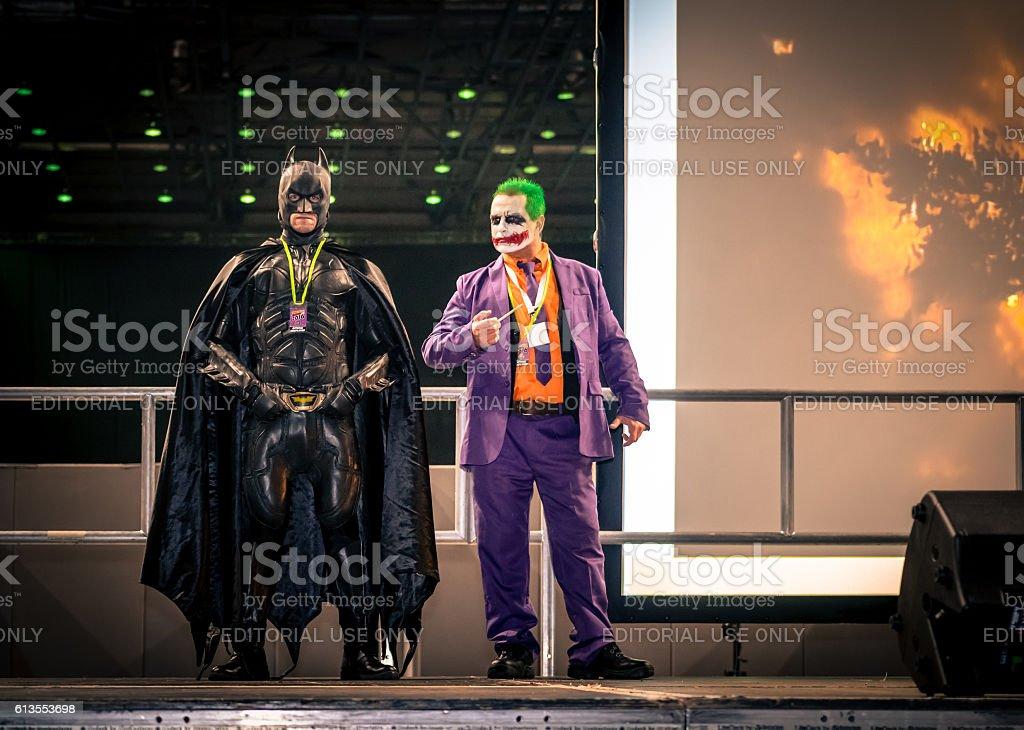Batman and Joker Cosplay stock photo