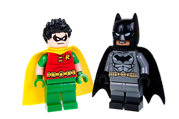 Batman and Robin Lego Minifigure stock photo