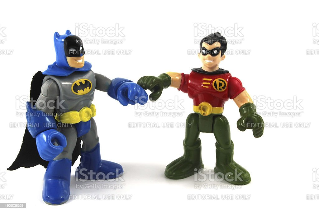 Batman e RObin Super eroe squadra caratteri - foto stock