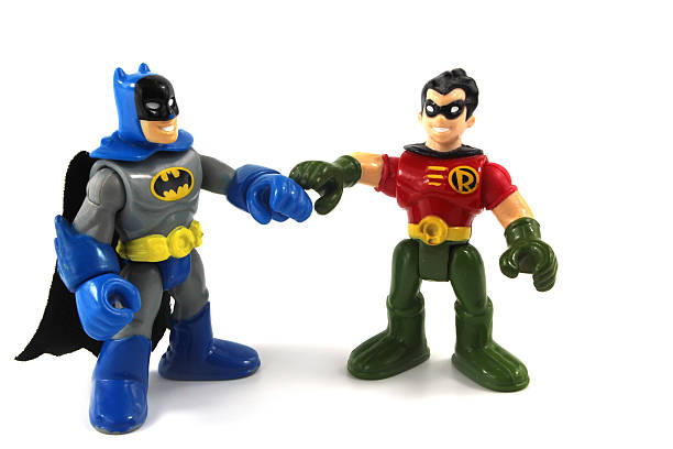 Batman and RObin Super Hero Squad characters stock photo