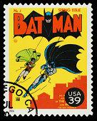 Batman and Robin Superhero Postage Stamp