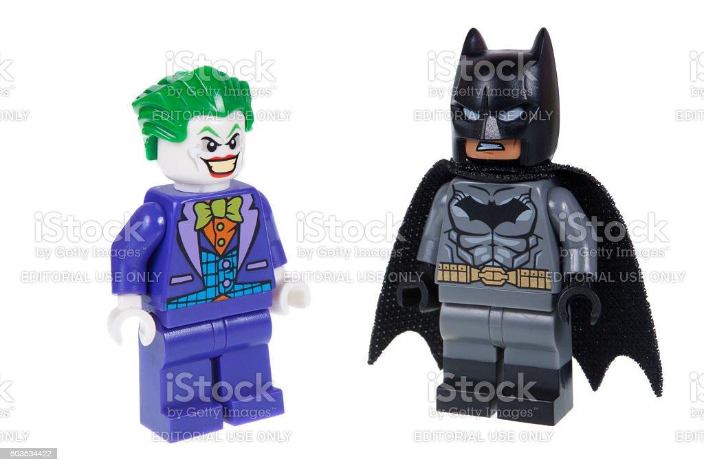 Joker Lego Batman e D - foto stock