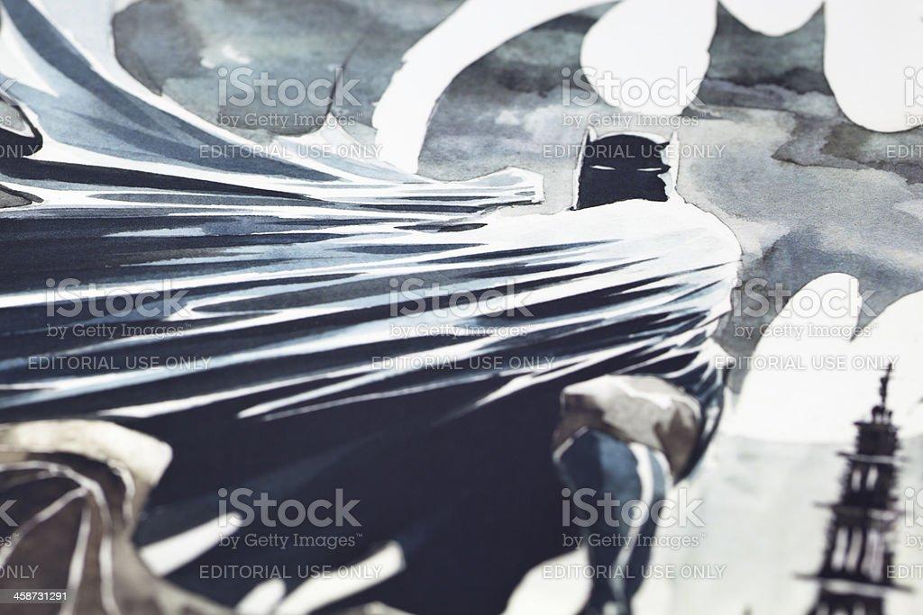 Batman e Robin lunghe ombre - foto stock