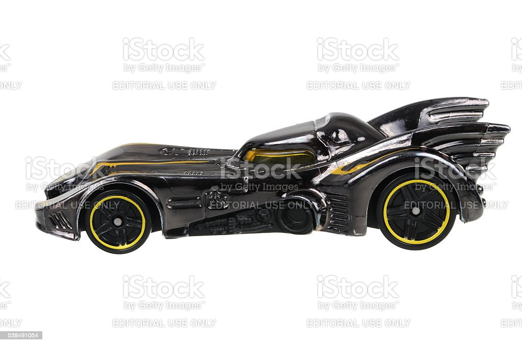 Batmobile Hot Wheels Diecast Toy Car stock photo