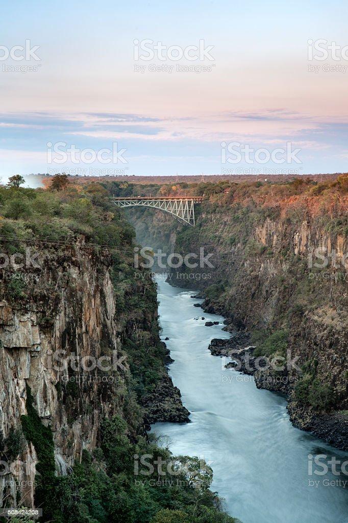 Batoka Gorge and the Zambezi River stock photo