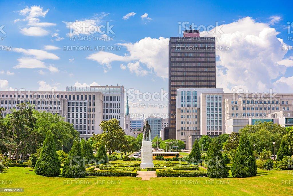 Baton Rouge Downtown stock photo